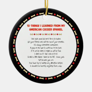 Funny Things Learned From American Cocker Spaniel Ornament