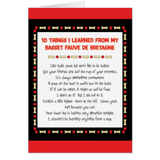 Funny Things Learned From Basset Fauve de Bretagne Card