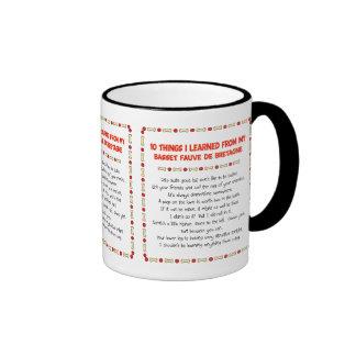 Funny Things Learned From Basset Fauve de Bretagne Ringer Mug