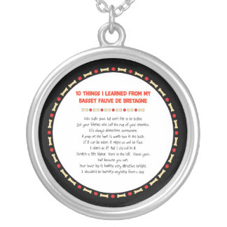 Funny Things Learned From Basset Fauve de Bretagne Round Pendant Necklace
