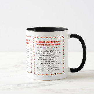 Funny Things Learned From Bavarian Mountain Hound Mug
