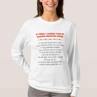 Funny Things Learned From Bavarian Mountain Hound T-Shirt