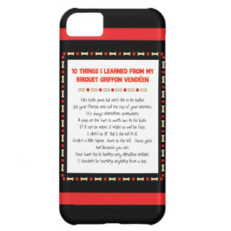 Funny Things Learned From Briquet Griffon Vendéen iPhone 5C Cases