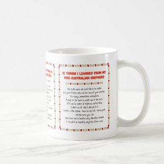 Funny Things Learned From Mini Australian Shepherd Coffee Mug