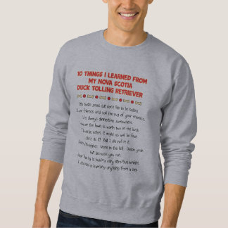 Funny Things Learned From Nova Scotia Duck Toller Sweatshirt