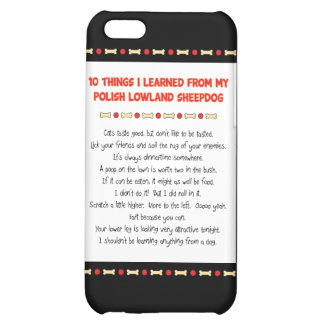 Funny Things Learned From Polish Lowland Sheepdog iPhone 5C Case