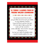 Funny Things Learned From Treeing Walker Coonhound Postcard