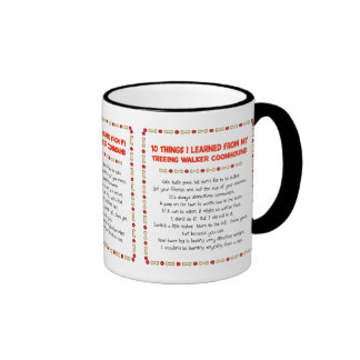 Funny Things Learned From Treeing Walker Coonhound Ringer Mug