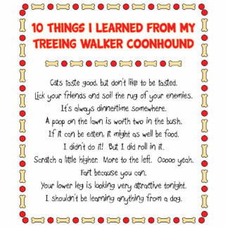 Funny Things Learned From Treeing Walker Coonhound Standing Photo Sculpture