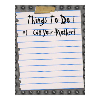 Funny Things To Do! Letterhead Notepaper