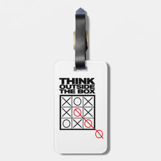 Funny Think Outside the box Luggage Tag
