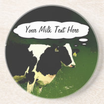 Funny Thinking Cow Drink Coaster