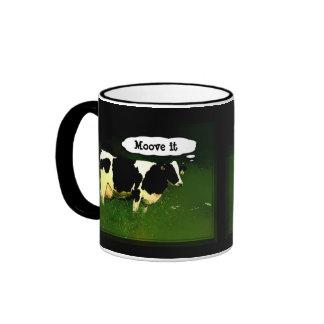 Funny Thinking Cow Ringer Coffee Mug