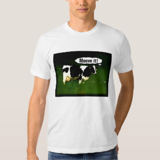 Funny Thinking Cow Tee Shirt