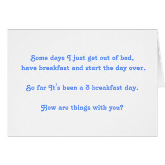 Funny Thinking of You Card to write on