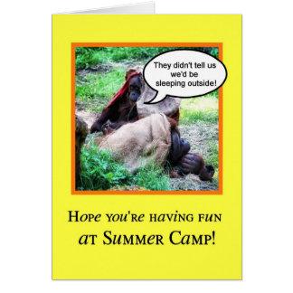 Funny Thinking of You, Summer Camp, Orangutans Greeting Card