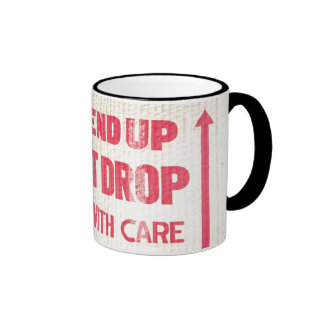 Funny This Side Up Do Not Drop Coffee Mug