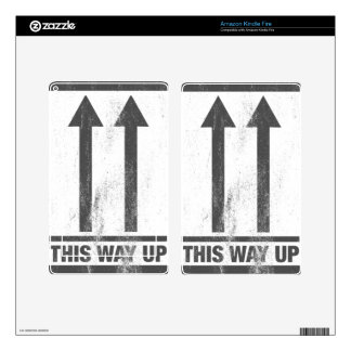 Funny this way up sign skins for kindle fire