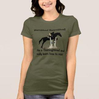 Funny Thoroughbred Horse People Humor T-Shirt