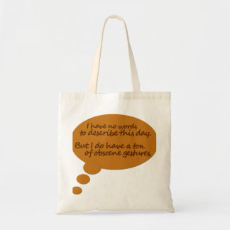 Funny Thought Bubble Tote Bag