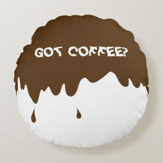 Funny Throw Pillow with Fake Coffee Drips