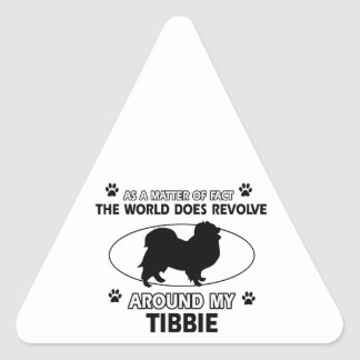 Funny tibbie designs triangle sticker