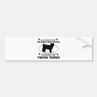 Funny tibetan terrier designs bumper sticker