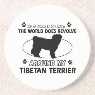 Funny tibetan terrier designs drink coaster