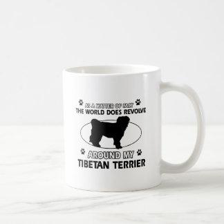 Funny tibetan terrier designs classic white coffee mug