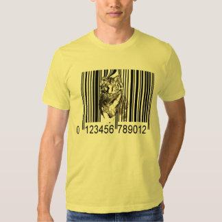 Funny tiger barcode vector T-Shirt