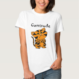 Funny Tiger Cat with Atitude T-Shirt
