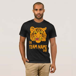 Funny Tiger Football Go and Team Name T-Shirt