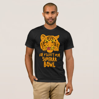 Funny Tiger Football Superbowl T-Shirt