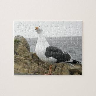 Funny Tilt Head Seagull Jigsaw Puzzle