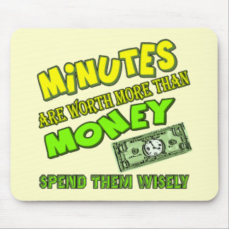 Funny Time and Money T-shirts Gifts Mouse Pad