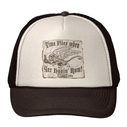 Funny Time Flies when yer having Rum Trucker Hat
