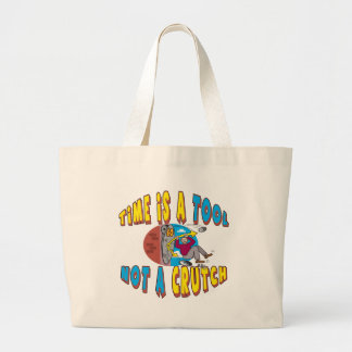 Funny Time Is A Tool T-shirts Gifts Jumbo Tote Bag