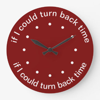 Funny Time Themed Large Clock