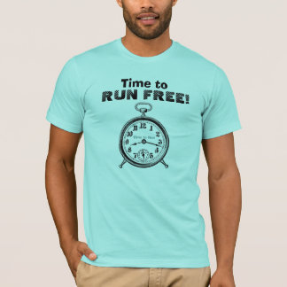 Funny Time to RUN FREE with Vintage Clock V08 T-Shirt