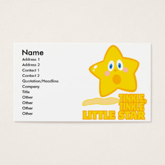 funny tinkle tinkle little star business card