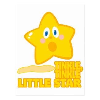 funny tinkle tinkle little star postcard