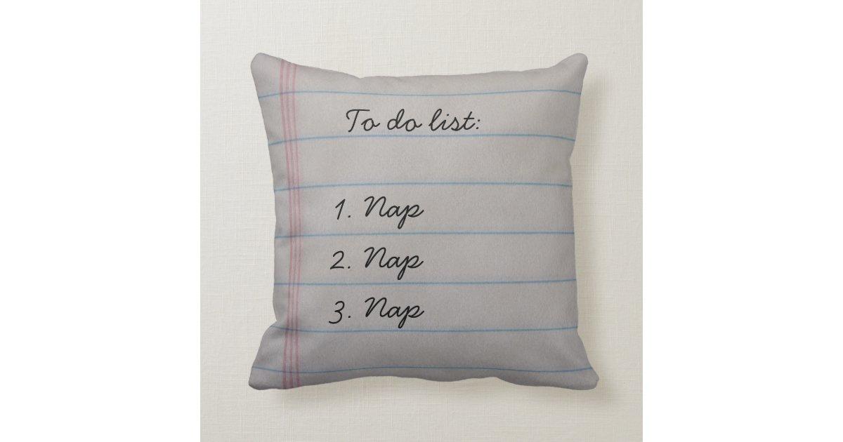 Decorative Pillows Funny : Funny To Do List Throw Pillow Zazzle.com