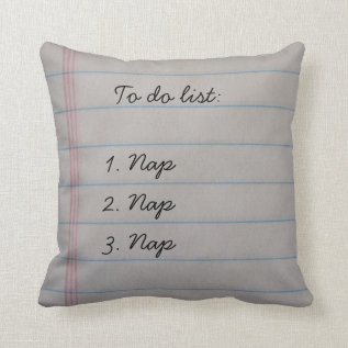 Funny To Do List Throw Pillow at Zazzle