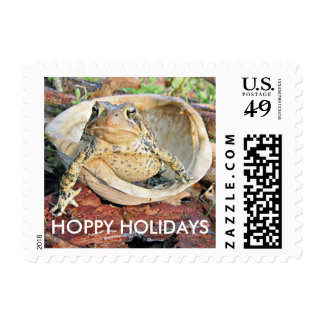 Funny Toad Hoppy Holidays! Postage