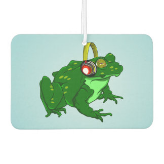 Funny Toad Listening to Music Air Freshener