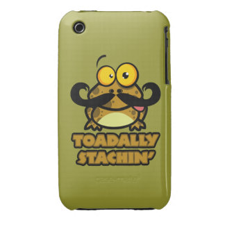 funny toadally stachin toad with a mustache Case-Mate iPhone 3 cases