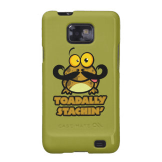 funny toadally stachin toad with a mustache samsung galaxy SII cover