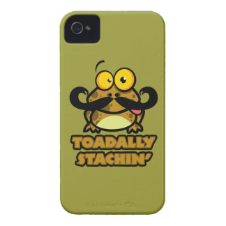 funny toadally stachin toad with a mustache iPhone 4 Case-Mate case