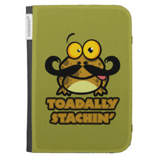 funny toadally stachin toad with a mustache kindle keyboard cases