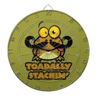 funny toadally stachin toad with a mustache dart boards